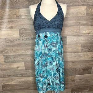 Athleta Blue Pack Everywhere Paisley Dress